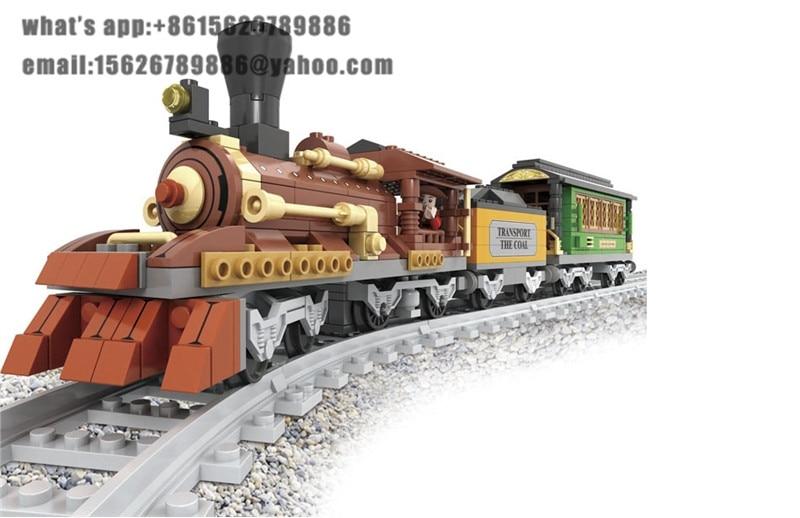 ФОТО Ausini building block set compatible with lego transportation train 012 3D Construction Brick Educational Hobbies Toys for Kids