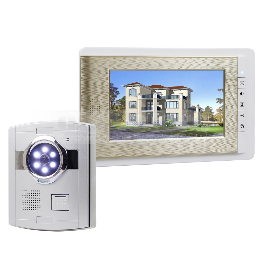 DIYSECUR Wired Video Door Phone Handsfree Intercom 7