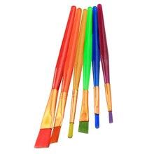 18 шт. Детские кисти ярких цветов различные формы краски кисти для детей темпера воды цвет краски ing игрушки для детей