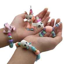 Animal Twist Bracelet Toys Unicorn Magic Tricks Bracelets Creative Children Magic Surprise Twisted Pet DIY Jewelry Toy For Kids(China)
