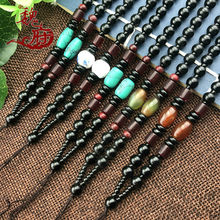 Hot Selling Fashion Power Necklaces Fashion Long Bead Sweater Chain Hang a Rope Necklaces Hand-woven Power Necklaces(China)