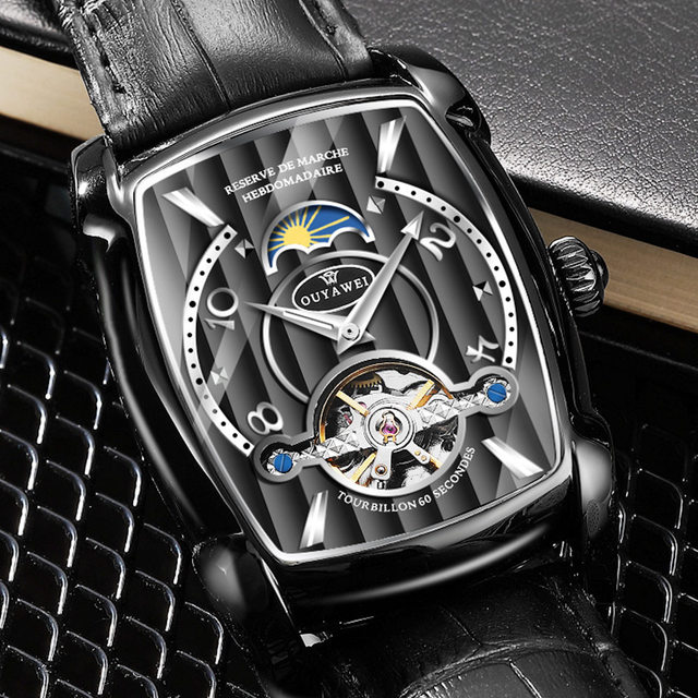 Automatic Skeleton Mechanical Tourbillon Wrist Watch 3