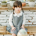 2017 spring new 3 years old to 8 years old girls girls college style lapel two sets of sweet dress skirt suit baby clothes