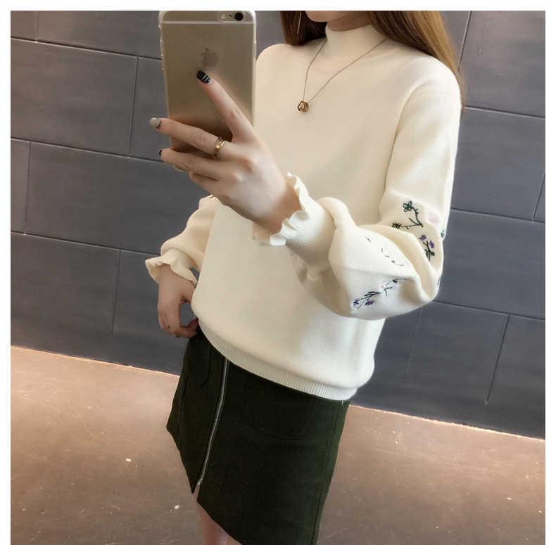 저렴한 도매 2018 새로운 가을 겨울 뜨거운 판매 여성 패션 캐주얼 따뜻한 좋은 스웨터 Y94