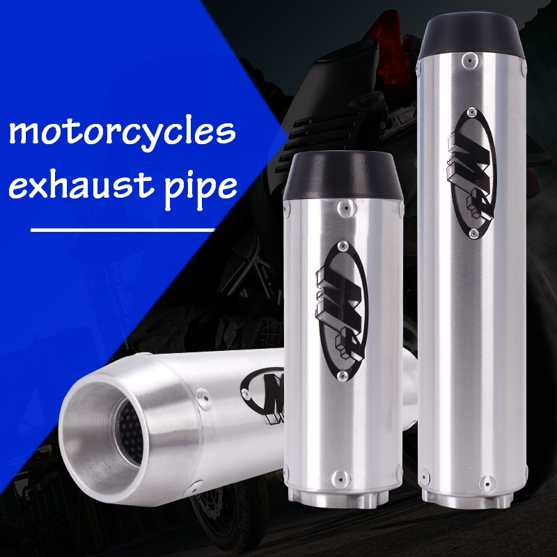 M4 Logo Exhaust Pipe Cylinder For Honda VTEC CB400 CBR250 CBR400 CBR600 F4I XJR400 VFR400 74A F5 Motorcycle Accessories motorcycle accessories for cb400 vtec cbr250 motorcycle modified exhaust pipe free shipping
