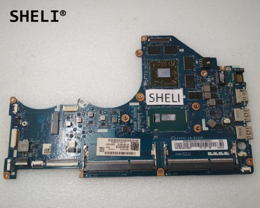 SHELI LA-B131P For Lenovo Y40-80 Motherboard With I7-5500U R9 Video Card 4G Video Memory