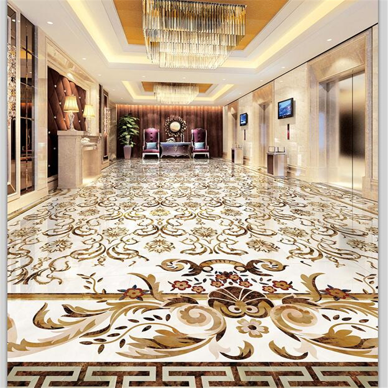 beibehang Custom floor painting 3D marble pattern European pattern stone tile parquet self-adhesive floor tiles papel de parede beibehang walking cloud 3d floor tile tile customization large fresco pvc thick wear resistant floor cover papel de parede