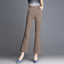 8 Colors Women Pants Plus Size Candy Colored Skinny Stretch Hight Waist Flare Famale Summer Trousers Pantalon Femme F69
