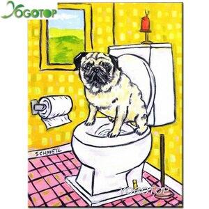 Собака туалет 5d Diy алмазная живопись с квадратным круглым Стразы картина Алмазная Вышивка Полный Набор Мозаика животные ремесла YY1351