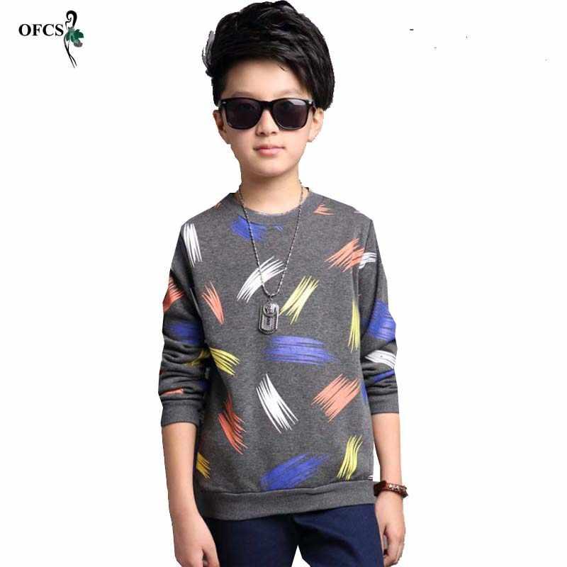 少年ブランドカーディガンデザインカラー印刷綿のセーターの秋ベビー服子供服キッズジャンパーベビーニットプルオーバー 15