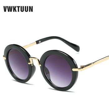 VWKTUUN Korean Round Kids Sunglasses Children Sun Glasses Baby Sun-shade Eyeglasses UV400 Outdoor Sport Boys Girls Eyewear gold earrings for women