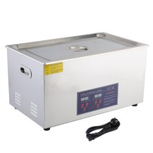Professional Microprocessor-Controlled 30L Digital Heating Stainless Steel Ultrasonic Wave Cleaner For Jewelry Watch EU Plug