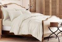 100% Egyptian Cotton 1200 TC Super King Size Flat sheet duvet cover 260X290 cm Beige gray colors N pieces set customize