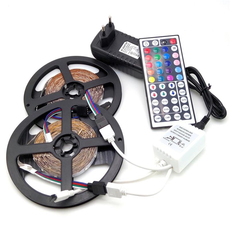 Striscia LED 10M Striscia flessibile 3528 RGB 600LED Set + 44Keys - Illuminazione a LED