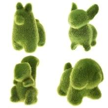 Cute Animal Shape Simulation Green Grass Ornaments Emulational Plant Bonsai Decoration For Home Garden