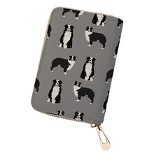 NOISYDESIGNS Australian Shepherd Printing ID Card Holder Travel Wallet for Credit Cards Womens Purse Coin Phone