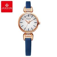 Women Leather Strap Simple Fashion Casual Classic Quartz Watch Women's Good Beautiful Pretty girls Time Original JULIUS Clock