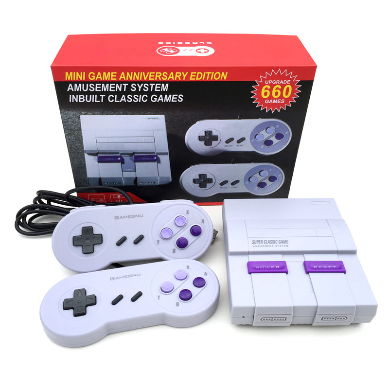 Nouveau jeu rétro Super classique Mini TV 8 bits famille TV Console de jeu vidéo intégré 660 jeux lecteur de jeu portable cadeau