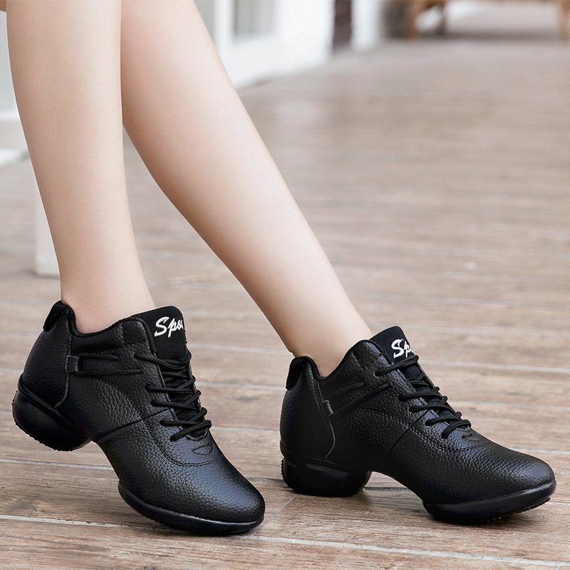 2018 New Women Black Red White Dance Shoes Women Jazz Hip Hop Shoes Sneakers For Woman Platform Dancing Ladies Fitness Shoes jazz shoes woman sports sneaker children dance shoes leather women shoes white four square fitness dance shoes