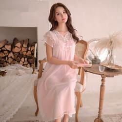 Высокое качество Для женщин сексуальные платья кружевная хлопковая ночная рубашка принцессы леди Повседневное пижамы Для женщин ночь
