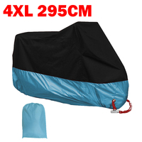 XXXXL Blue Motorcycle Cover Dust UV Proof Waterproof For Harley Davidson Electra Glide Ultra Classic FLHTCU Road King Touring