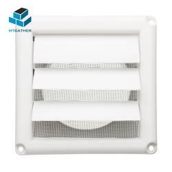 MTGATHER 5,6 дюймов белый пластик Louvre вентиляционная решетка с регулируемым Flyscreen крышка нагрева охлаждения и вентиляционные отверстия