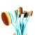 Belleza sistema de Cepillo cepillo de Dientes Forma Oval 10 unids/set Concealer de la Fundación Pinceles de Maquillaje Herramientas de Cosméticos Nueva Venta