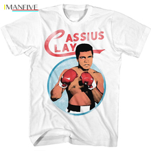 IMANFIVE Ali Boxing T-Shirt Mens CASSIUS CLAY in Sizes S - 3XL 100% Cotton цена