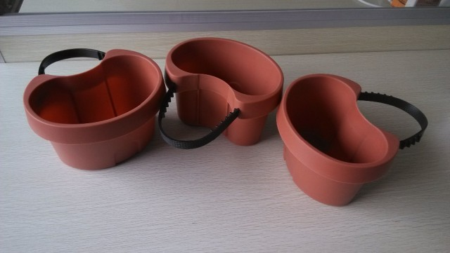 3 Pc/Lot Unique Gutter Downspout Garden Flower Pot     DRAIN PIPE FLOWER PLANT POTS Tubs Drain Pipe Garden Planters