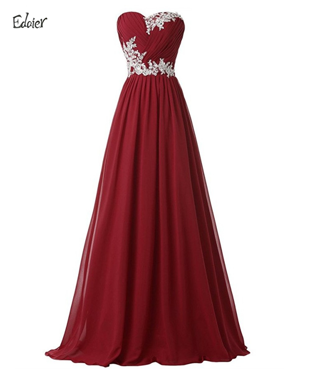 Full length strapless a line lace chiffon burgundy for Burgundy wedding dresses plus size