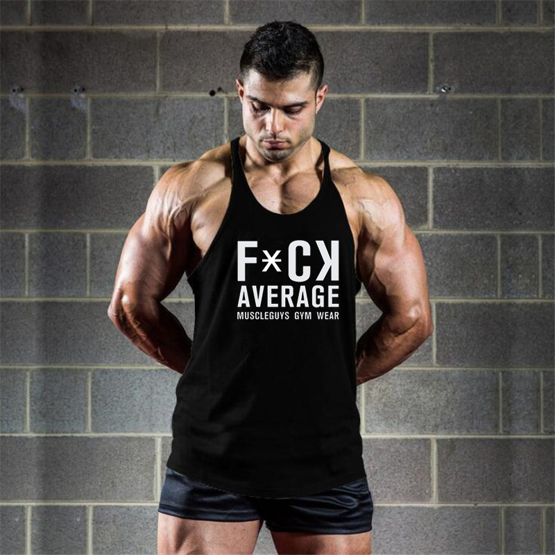 Muscleguys Gyms Wear Fitness Clothing Canotta Bodybuilding Stringer   tank     top   men Y back vest cotton sleeveless shirt muscle   tank