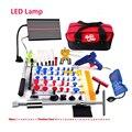 Kit de Ferramentas de PDR Paintless Reparação Dent Ferramentas de Remoção de Carro Dent Reparação Dent Extrator LED Refletor Da Lâmpada Placa de Conjunto de Ferramentas de Mão
