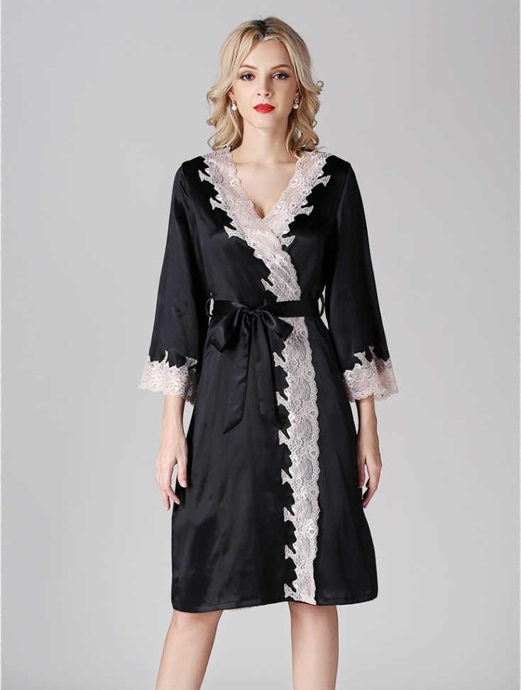 גלימות סאטן סקסי קרדיגן נשים חלוקי רחצה גלימת שושבינה סגנון קיץ חליפת משי משי פיג 'מה גבירותיי לונגו לילה שמלת אישה