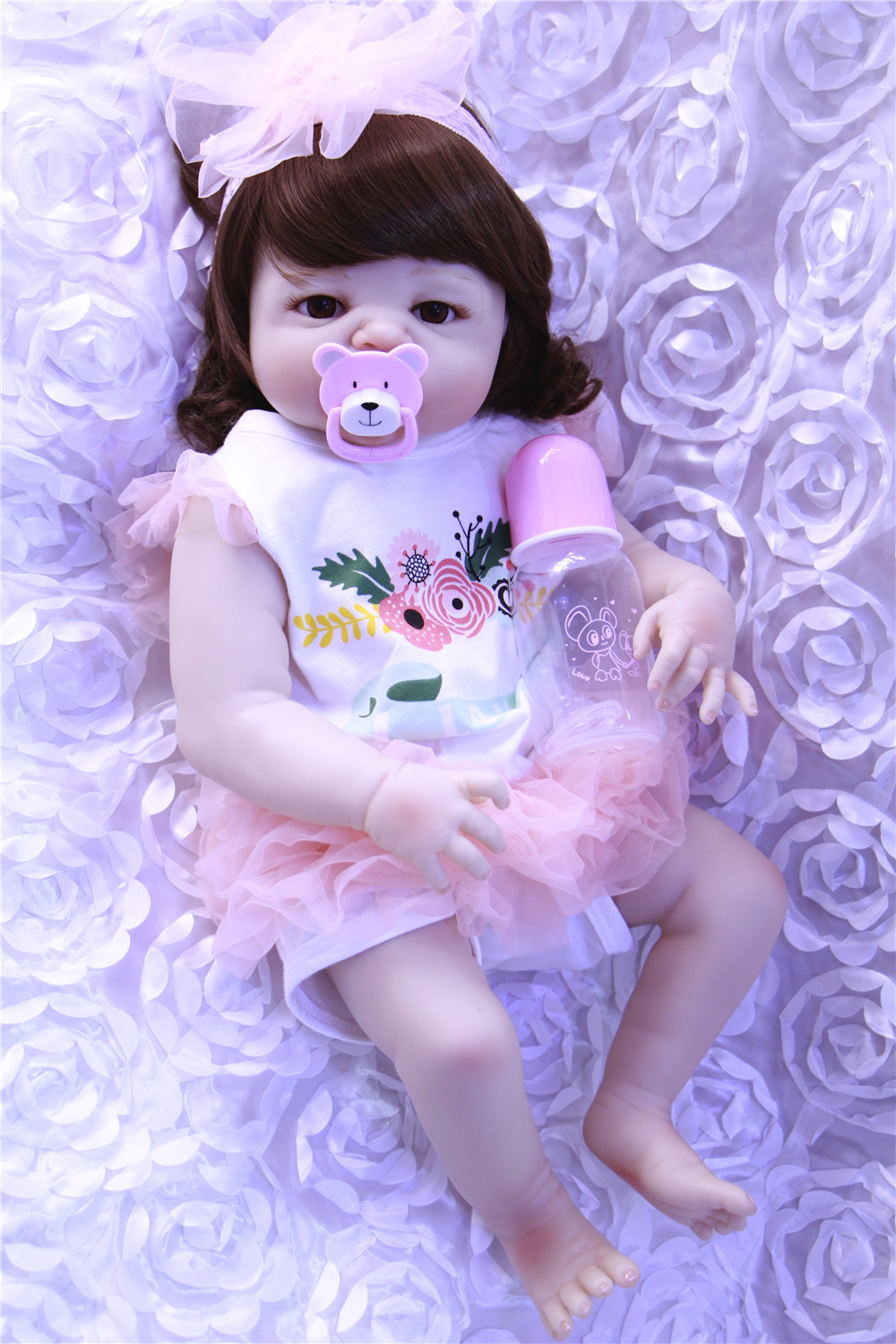 Reborn bebe dolls 23 NPK  full silicone reborn baby girl dolls toys gift white skin curly hair  new born princess toddler doll Reborn bebe dolls 23 NPK  full silicone reborn baby girl dolls toys gift white skin curly hair  new born princess toddler doll