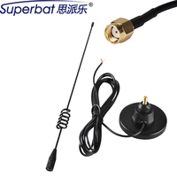 Superbat RP SMA Stecker GSM UMTS HSPA CDMA 3G Magneic omnidirektionale Antenne Booster 850 1900 900 1800 2100 Mhz 7dbi 3 Mt
