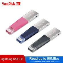 100% Подлинная SanDisk USB флэш-накопитель для iphone ipad и ПК 128 Гб 64 Гб Флешка 32 Гб 16 Гб оригинальный USB3.0 накопитель