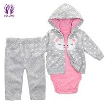 Детская шапочка и пальто цвет Картер общей печати ребенка удобную одежду, брюки из трех штук