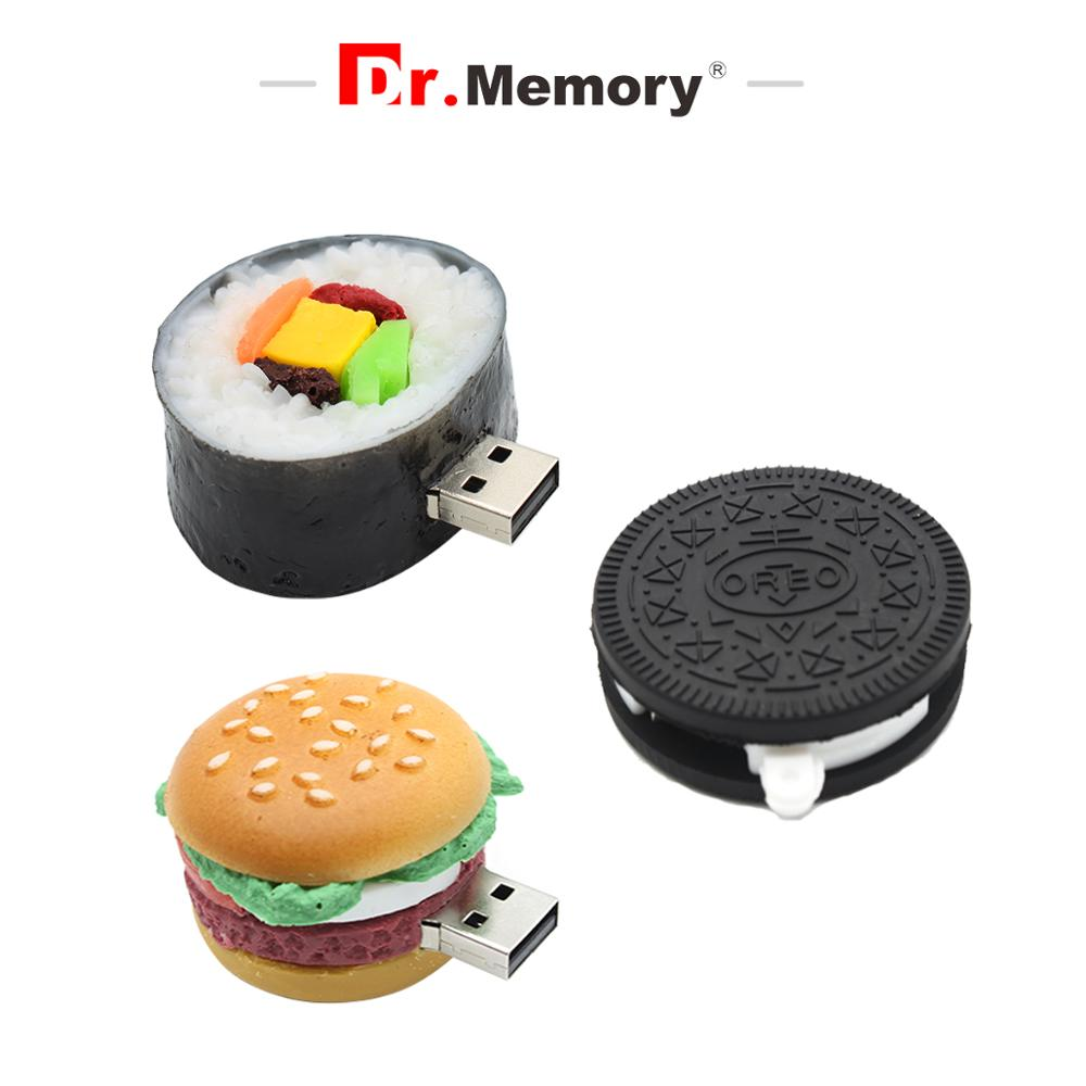 Image 3 - Funny Usb Flash Drive 16GB Cartoon Sushi Memory Stick 4GB 8GB 32GB Usb Disk Ice Cream 128GB Creative Real Capacity Pen Drive-in USB Flash Drives from Computer & Office