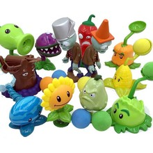 Botanical Wars Zombies 2 Complete Set Animation Toys Ejection Enamel Dolls Soft Stuffed Plush Toys D