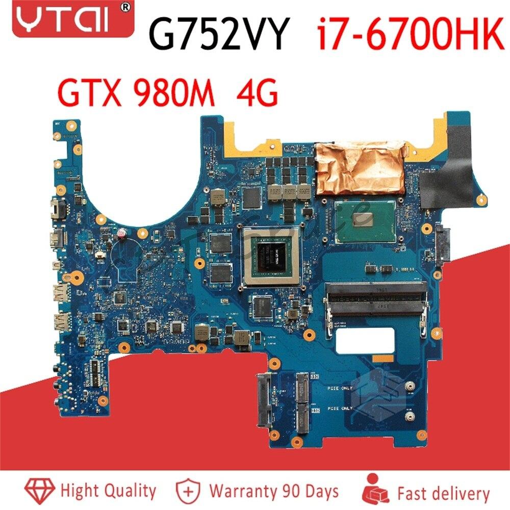 Motherboard para ASUS G752VY G752VY G752V I7-6700HQ GTX980M-4G G752 Laptop motherboard 100% totalmente testado