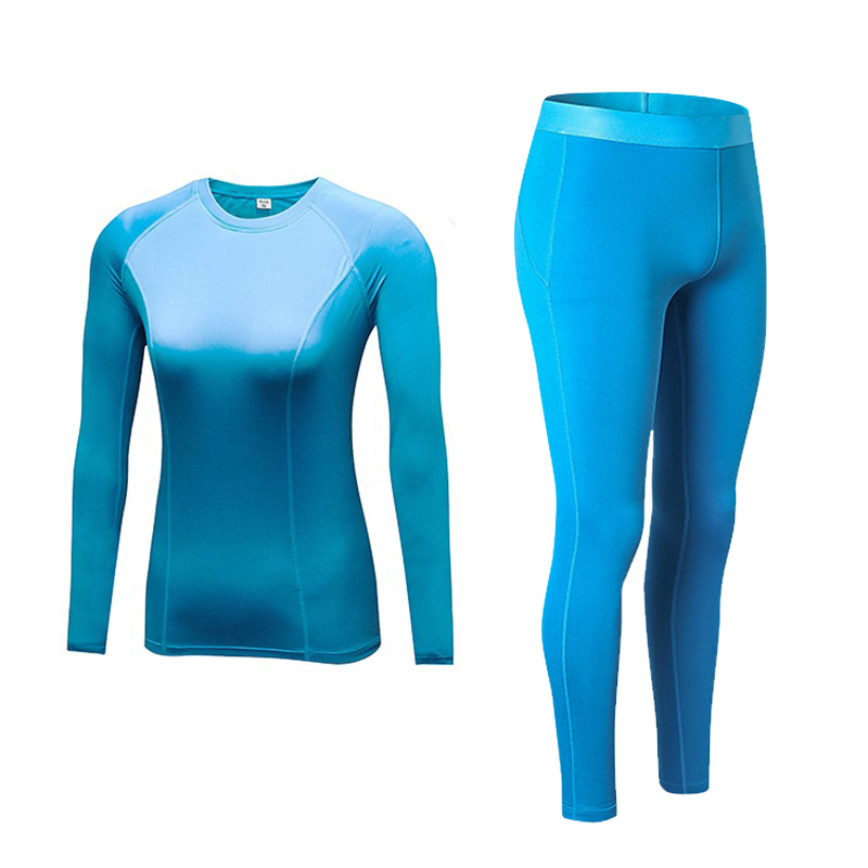 New Women Sets Winter Thermal Fleece Sportsuits Gym Tight Clothes Long Sleeve Running T-shirts Warmer Pants Add Wool Sportswear