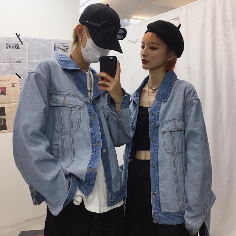 Whitney Femmes Designer Mode 2019 2 Veste Jean Denim Wang Style Côtés Streetwear Porter Manteau Automne Printemps rHqUrB1wO