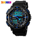 2017 New SKMEI popular Brand Men Military Sports fashion climbing Watches dual time Digital LED quartz  Wristwatches rubber band