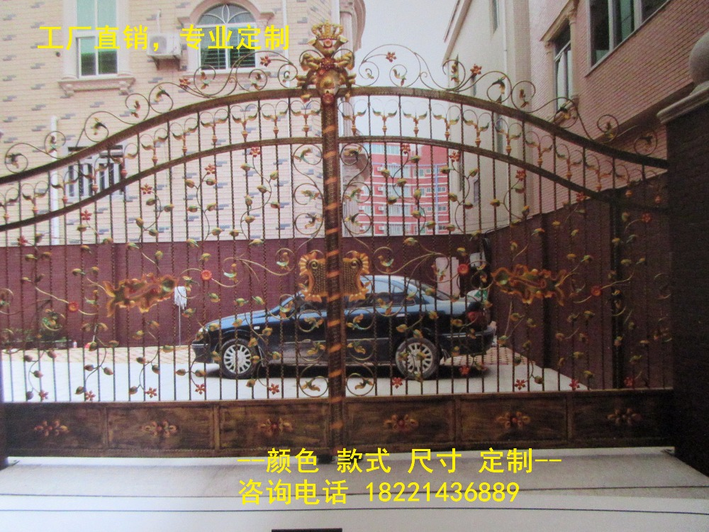 custom made wrought iron gates designs whole sale wrought iron gates metal gates steel gates hc-g40custom made wrought iron gates designs whole sale wrought iron gates metal gates steel gates hc-g40