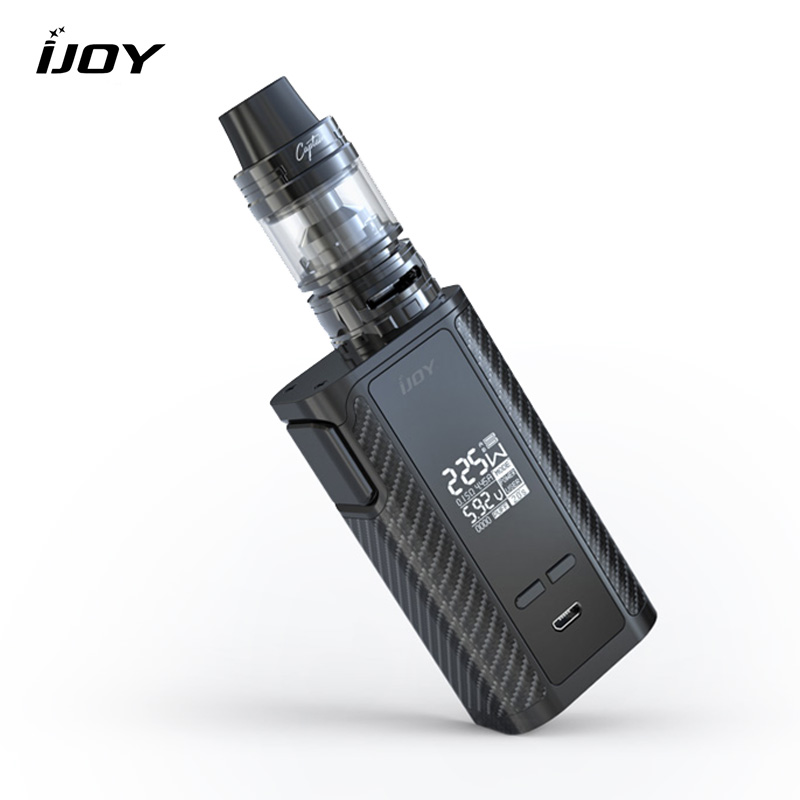 electronic cigarette kit original IJOY Captain PD1865 TC Vape Kit RDTA 5S Tank 2.6ml Atomizer CAPTAIN PD1865 BOX MOD 225W original ijoy captain pd1865 tc 225w kit captain tank 4ml atomizer no 18650 battery captain pd1865 mod e cigarette vaping kit