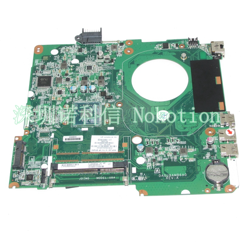 NOKOTION 828164-001 Laptop motherboard For hp pavilion 15-F DA0U8AMB6A0 Mainboard full tested nokotion 687229 001 qcl51 la 8712p laptop motherboard for hp pavilion m6 m6 1000 hd7670m ddr3 mainboard full tested