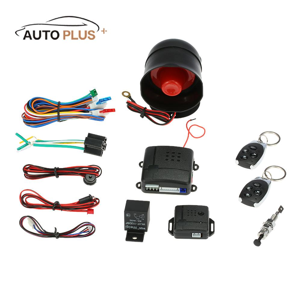 Package List: 1 * Main Control Unit 1 * Shock Sensor 1 * Siren 1 * LED  Light 2 * Remote Control 1 * Set of Wiring Harness 1 * Instruction Manual  (English)
