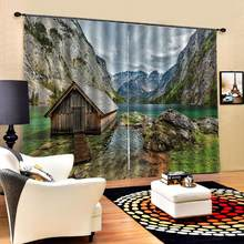 Curtain office Bedroom 3D Window Curtain Luxury living room decorate Cortina nature scenery curtains landscape curtain(China)