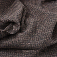 140CM Wide 500G/M Brown Check Knitted Wool Viscose Fabric for Autumn Spring Dress Jacket Blouse Pants H193