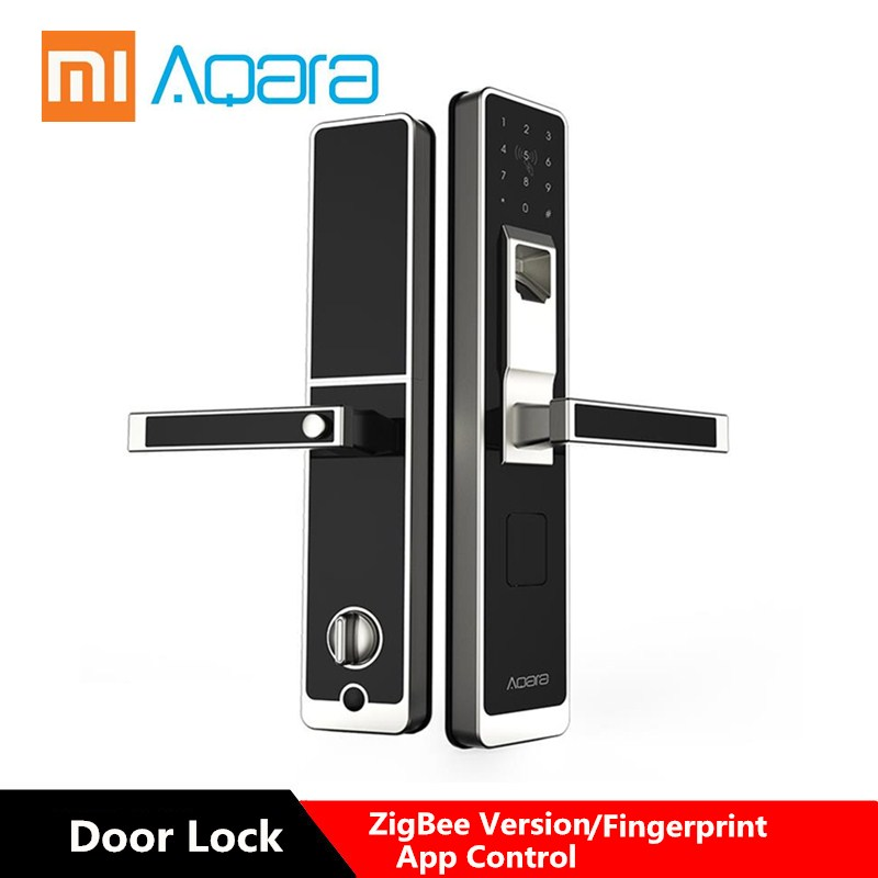 Aqara Smart Door Touch Lock ZigBee Connection WIFI Fingerprint For Home Security Anti-Peeping Design Support IOS Android
